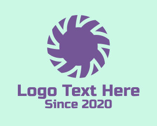 Instagram - Violet Flower Lettermark logo design