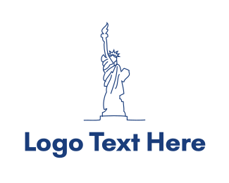 Independence - USA Statue of Liberty logo design