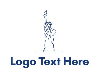New York - USA Statue of Liberty logo design