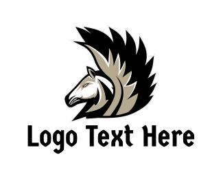 Mythical Creature - White Pegasus Gaming logo design