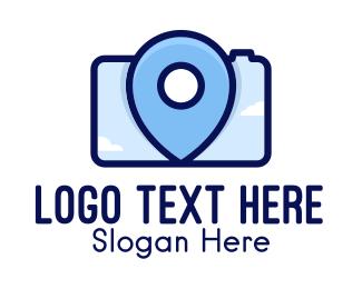 Vlogging - Location Camera logo design