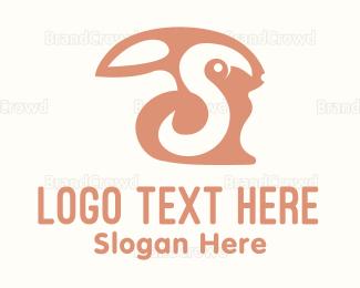 Bounce - Black Bunny logo design