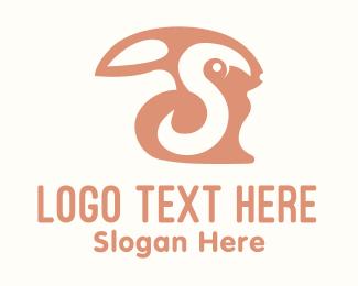 Fur - Black Bunny logo design