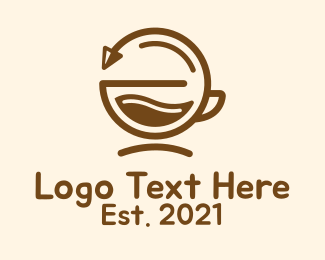 Minimalist - Brown Coffee Cycle logo design