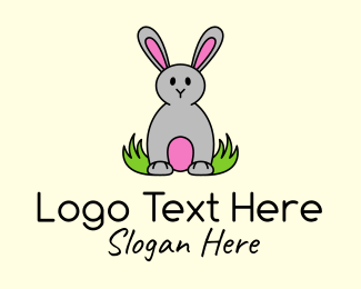 Sea Lion - Cute Easter Bunny logo design