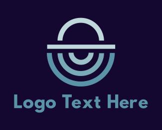 Waiter - Abstract Food Cloche logo design
