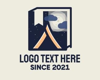 Guide - Camping Guide Book logo design