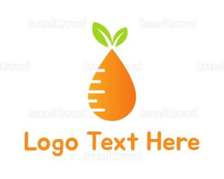 Carrot - Carrot Drop logo design