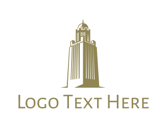 Arabian - Gold Arab Tower logo design