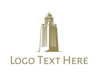 Aladdin - Gold Arab Tower logo design