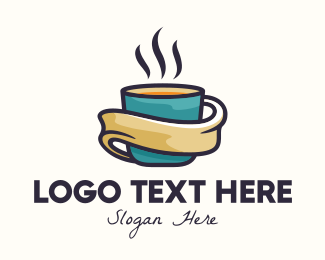 Coffe Shop - Hot Coffee Cup logo design