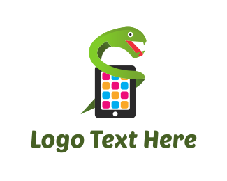 Android - Mobile Snake logo design