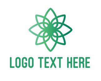 Flower Pot - Modern Flower Outline logo design