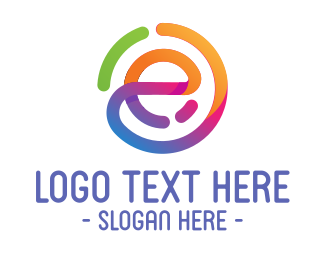 Ebook - Multicolor Stroke Letter E logo design