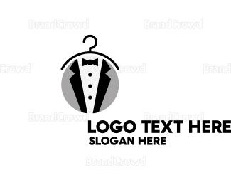 Dry Cleaner - Mens Tuxedo logo design