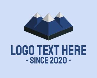 Ski - Blue Mountain Trekking logo design