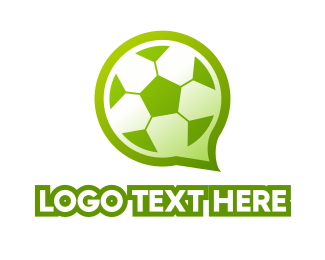 Soccer - Soccer Chat logo design