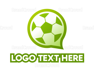 Text Message - Soccer Chat logo design