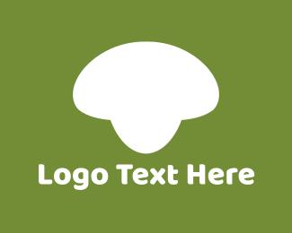 Green And White - White Mushroom logo design