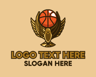 League - Basketball Bird Trophy logo design