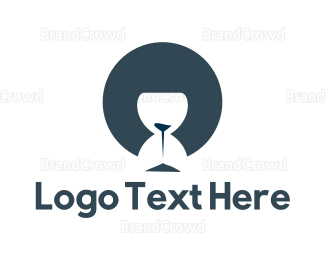 Sandbox - Blue Hourglass logo design