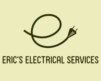 Letter E electric logo