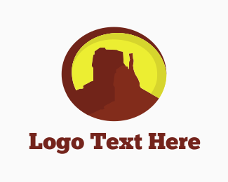 Cliff - Desert Mountain Canyon logo design