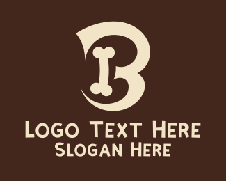 Animal Hospital - Dog Bone Letter B  logo design