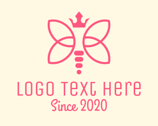 Fairy - Princess Dragonfly logo design