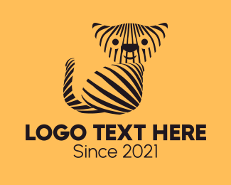 Animals - Striped Wild Cat  logo design