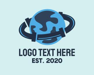 Plumbing - Plumbing Water Pipes Planet logo design