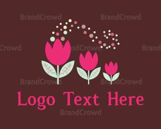 Nappy - Pink Tulips logo design
