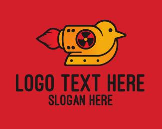 Little - Rocket Bird logo design