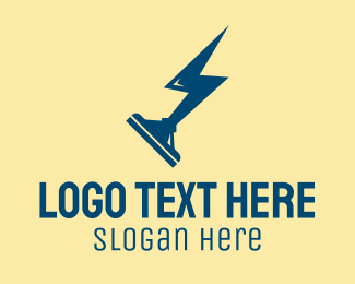 Squilgee - Lightning Squeegee Cleaner  logo design