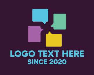 Group - Group Chat Application logo design
