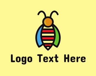 Honeybee - Tropical Bee Insect Bug logo design