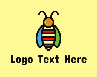 Insect - Tropical Bee Insect Bug logo design