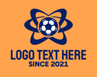 Sports Technology - Soccer Ball Orbit  logo design