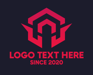Interlocked - Geometric Tech Symbol logo design
