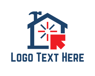 Hammer - House Repair logo design