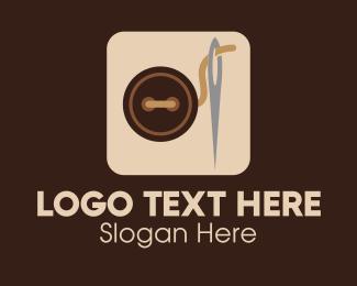 Needlework - Sewing Button Application logo design