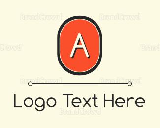 Modern - Modern Orange Lettemark logo design