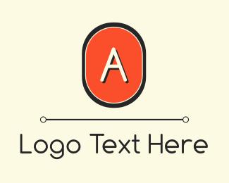 Oval - Modern Orange Lettemark logo design