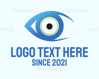 View - Blue Eye logo design
