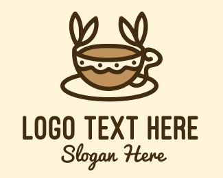 Roasted - Coffee Leaf Cup logo design