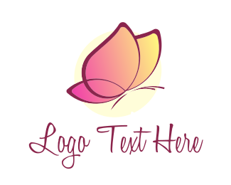 Pink - Pink Butterfly logo design