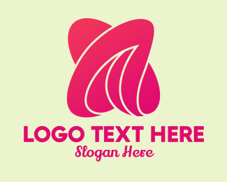 Plastic Surgery - Abstract Pink Letter A  logo design