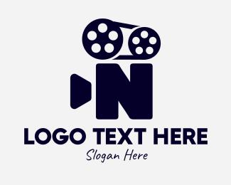 Directing - Black Film Letter N logo design