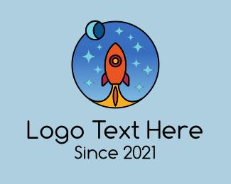 Space - Space Rocket Blast logo design