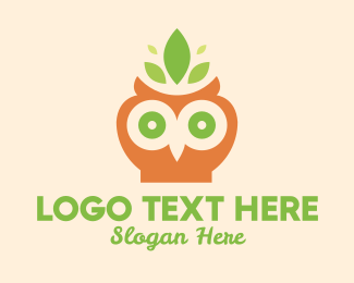 Tea House - Leaf Owl logo design